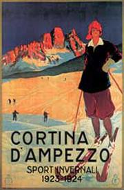 Affiche n.9 - Cortina d'Ampezzo