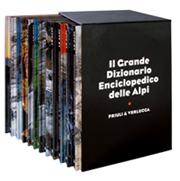 Il cofanetto del Grande Dizionario Enciclopedico delle Alpi