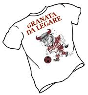 T-shirt granata da legare