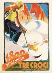 Affiche n. 18 - Cortina. Grand Hotel Tre Croci